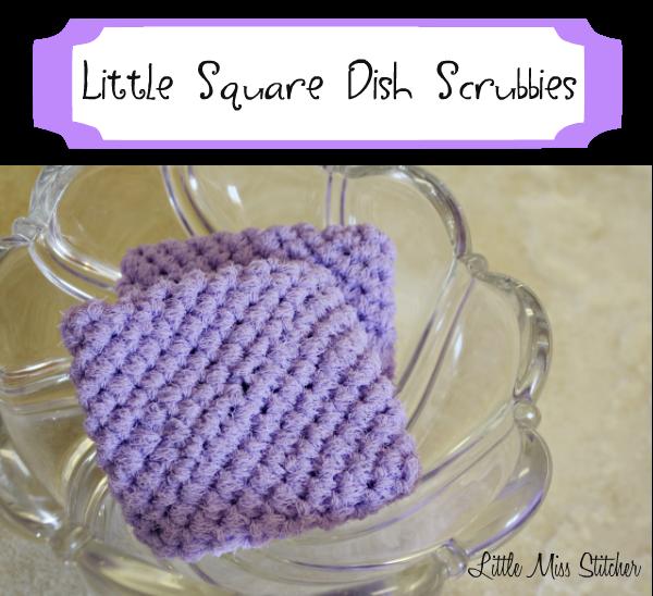 Little Miss Stitcher Little Crochet Square Scrubbie