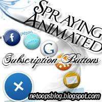 spraying animated subscription buttons blogger