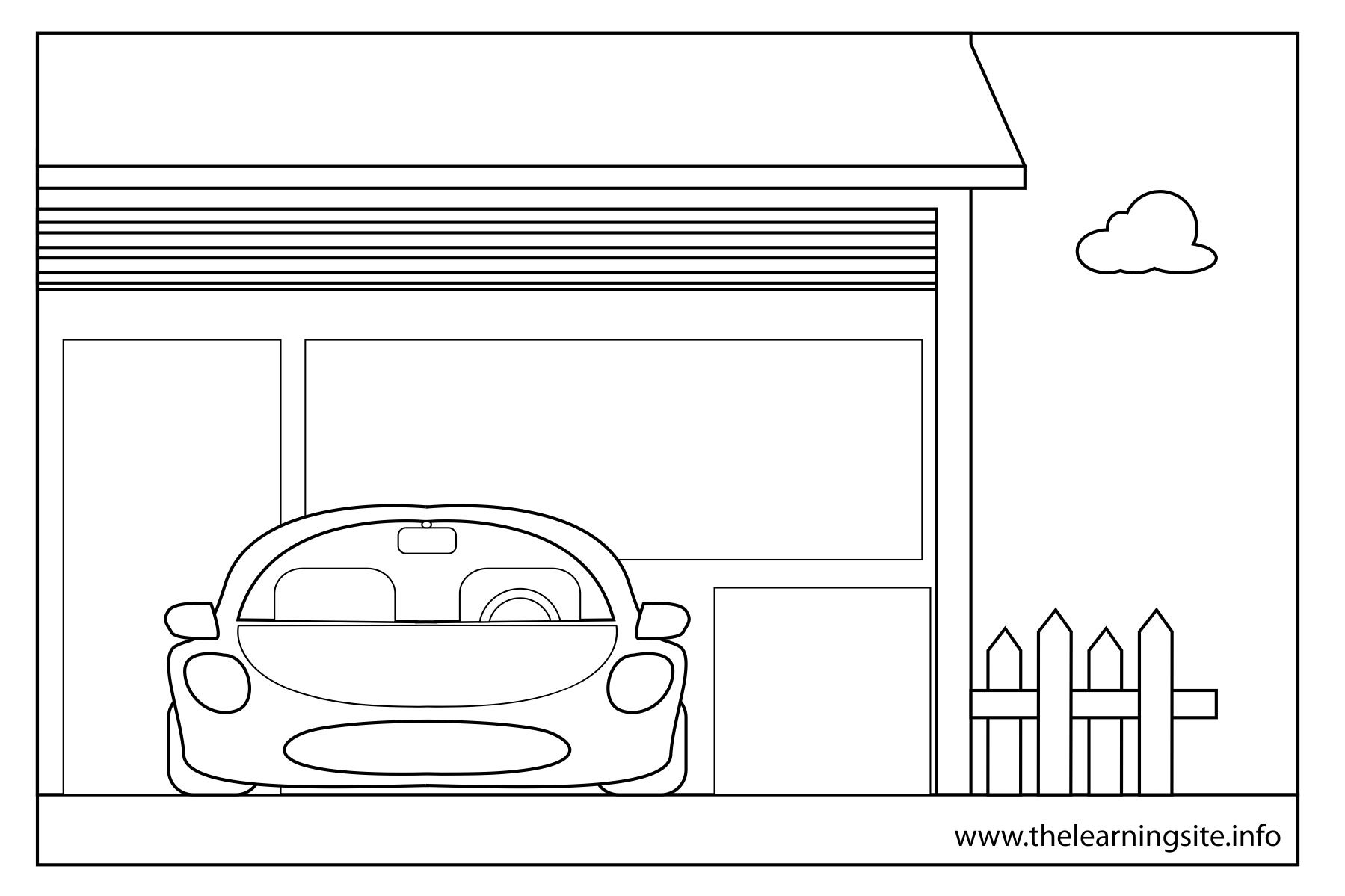 Free Coloring Pages Of Outline Of A House