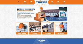 Thieme Bau GmbH Webseite von Bitskin