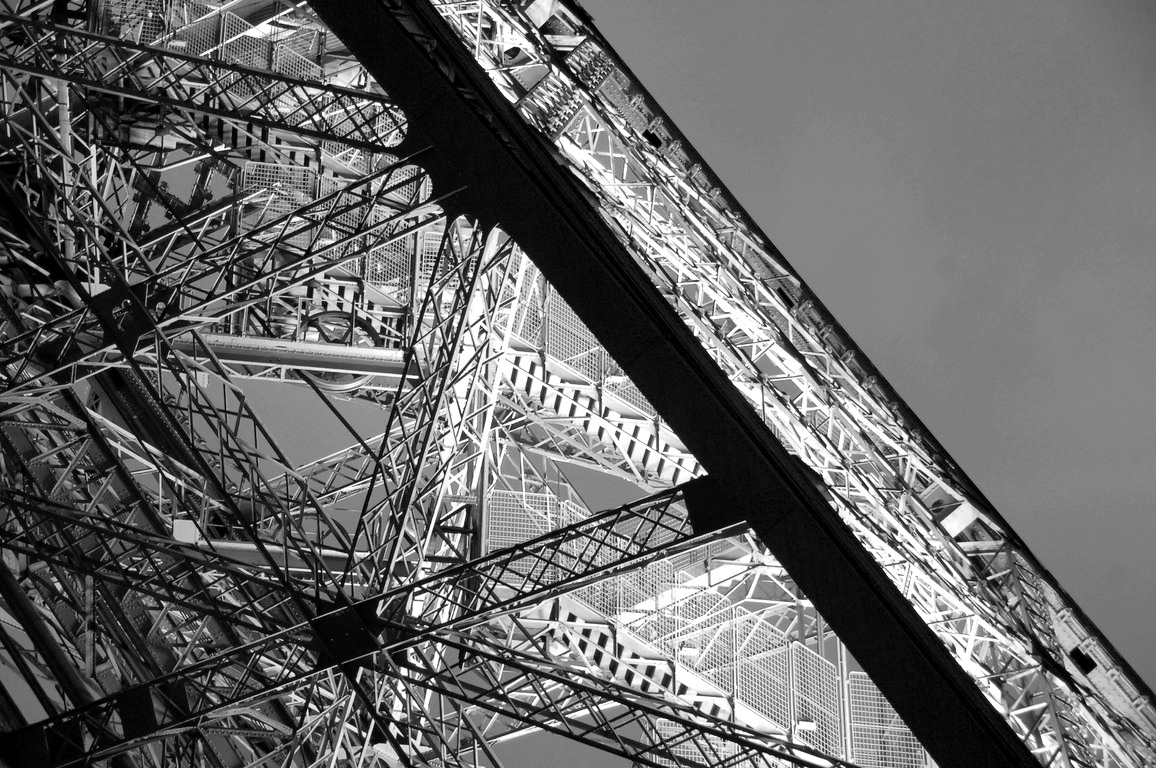 Eiffel Tower structure Black and white Photo