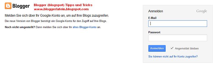 Blogger Blogspot Blog öffentlich machen