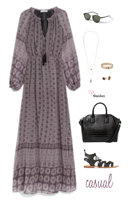 boho dress casual look