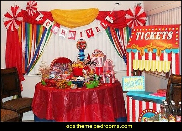 Circus under the Big top theme-Circus birthday party decorating ideas