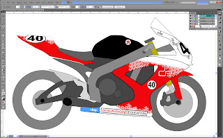 Illustrator looks like model for the GSXR600 Sharkskins  Hotbodies