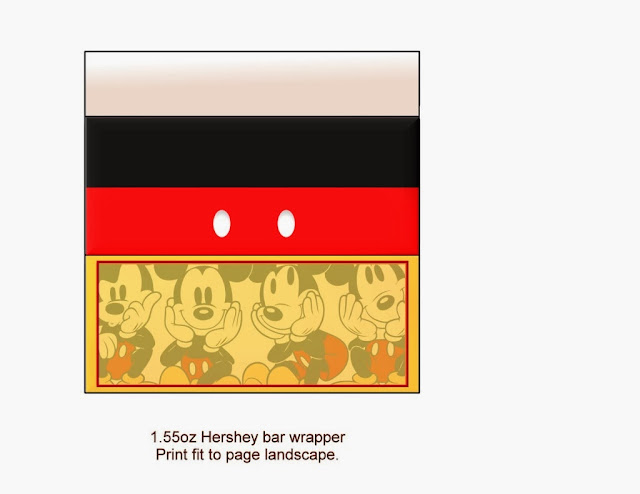 Cute Mickey and Friends Free Printable Chocolate Wrappers.