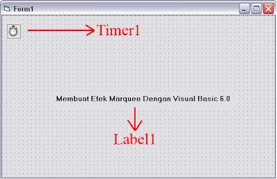 Membuat Efek Marquee Dengan Visual Basic 6.0