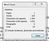 Data Word Count Document Word