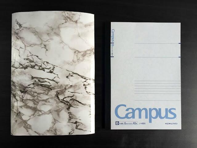 diy back to school marble notebook