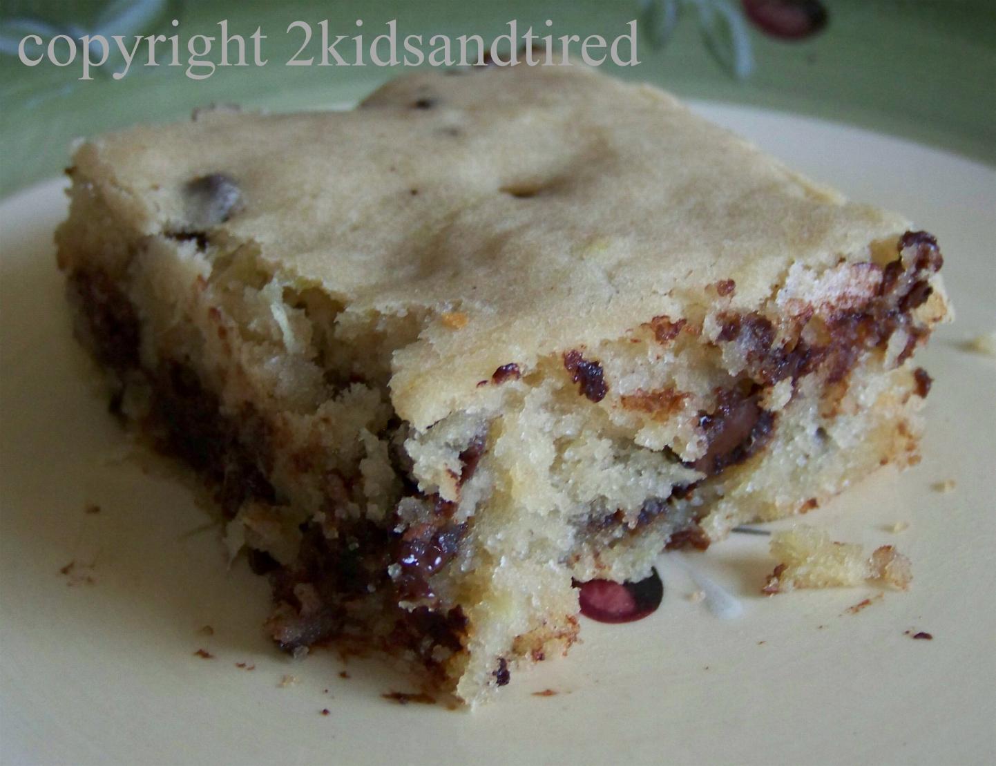Chocolate Chip Zucchini Cake With Cake Mix