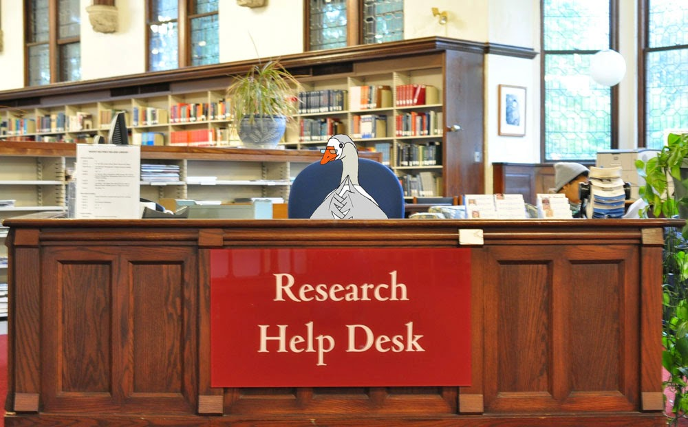 Jorge at the Research Help Desk