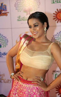 Actress Mumaith Khan  Picture Gallery in Half Saree at Memu Saitam Dinner with Stars Red Carpet  8.jpg