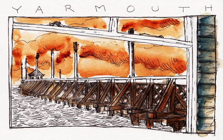 Gossip on Yarmouth Pier