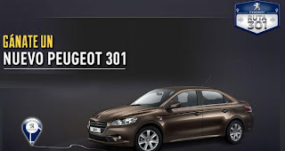 concurso promocional ruta 301 peugeot gana 1 automovil modelo 2013 mexico