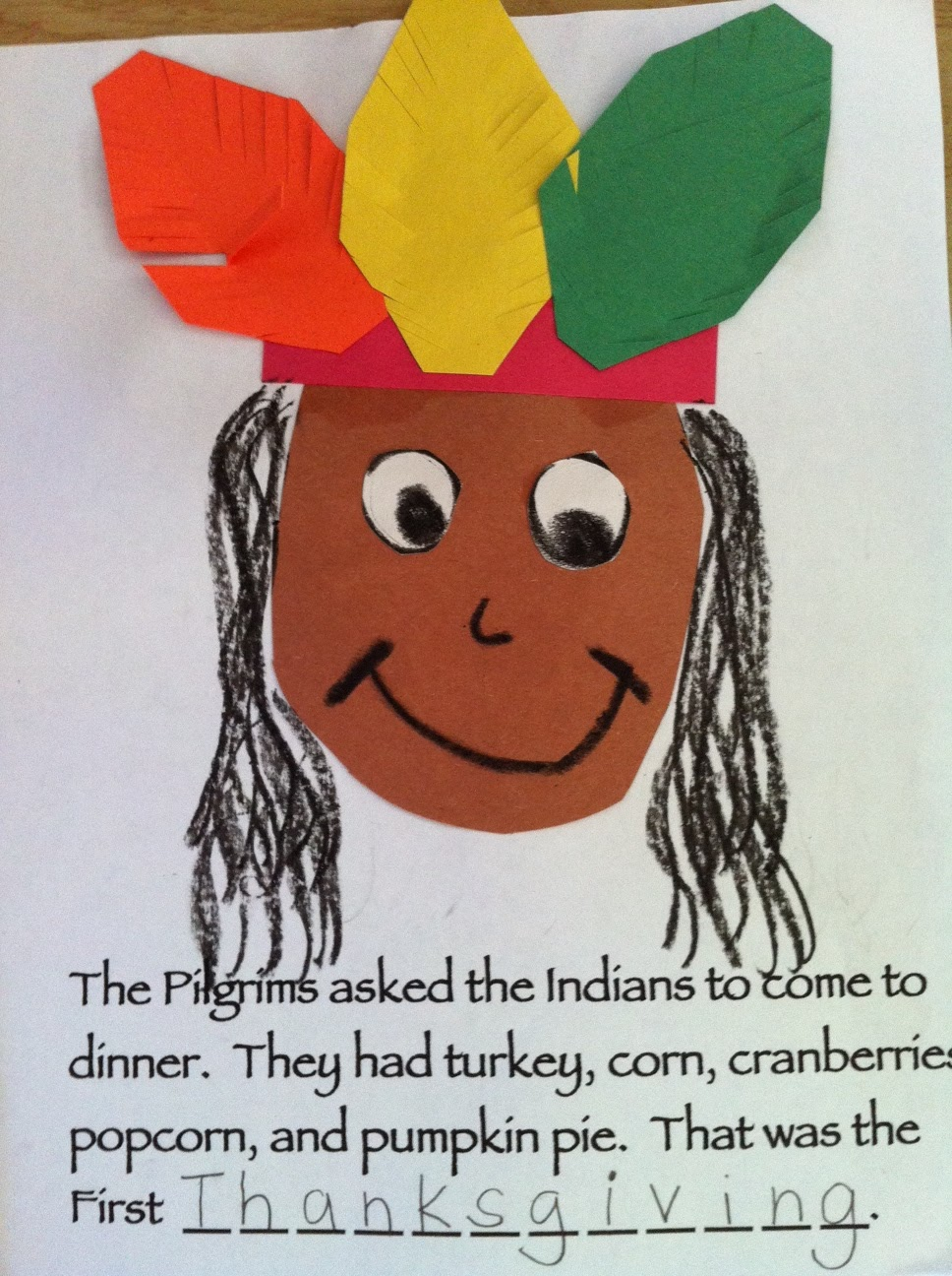 thanksgiving art project for kindergarten thanksgiving theme unit
