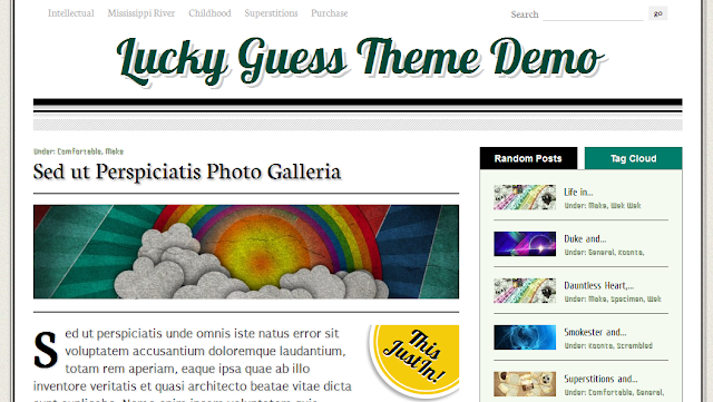 Lucky Guess WordPress Theme