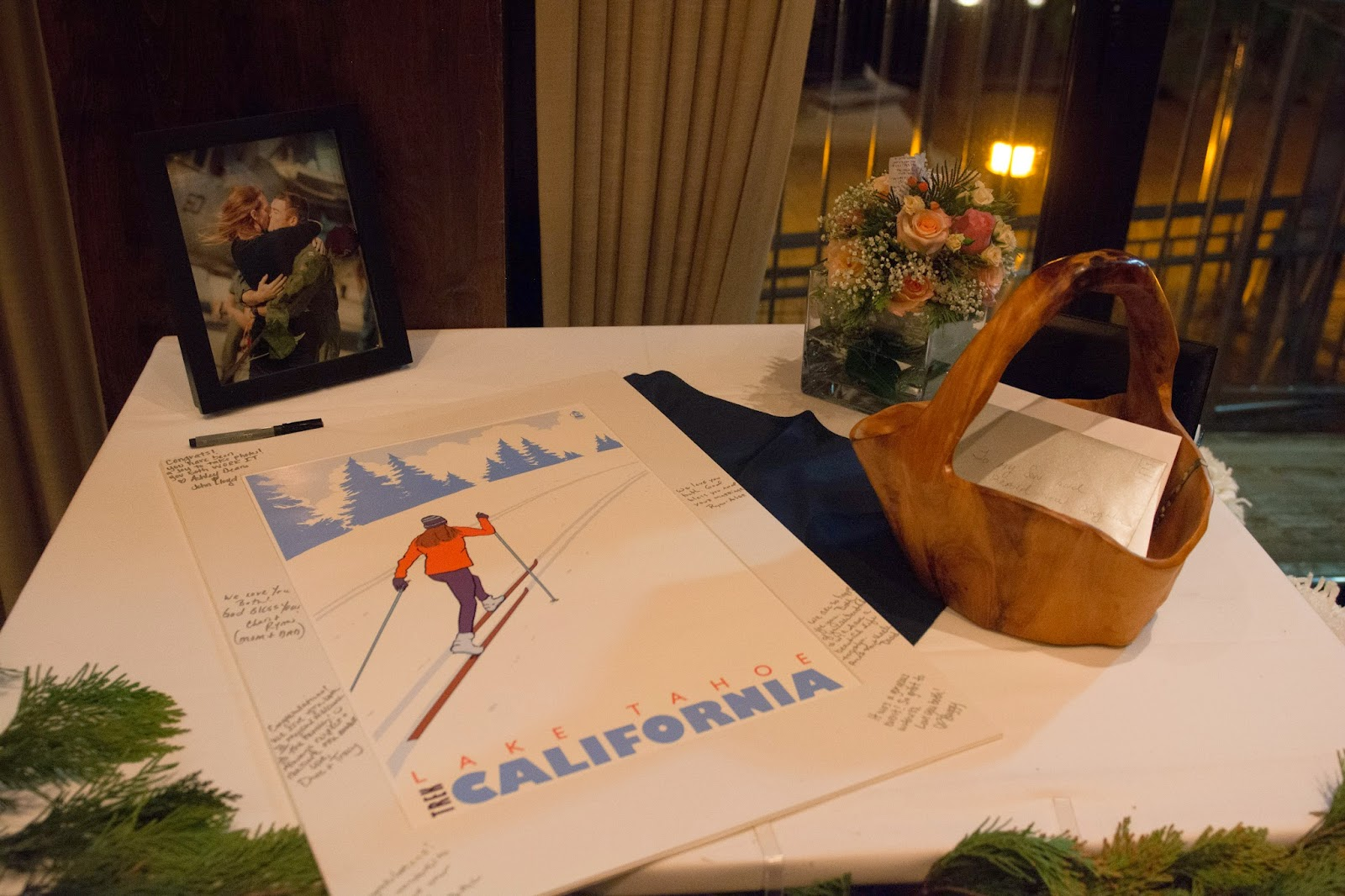 Winter Wedding Ski Guest Book / Take the Cake Event Planning