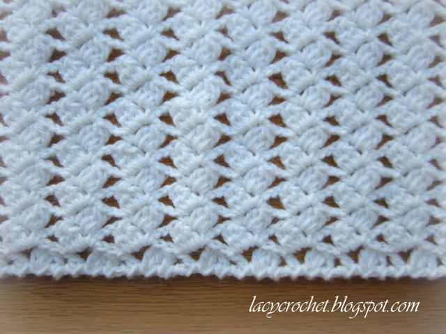 Lacy Crochet Lacy Braids Baby Blanket