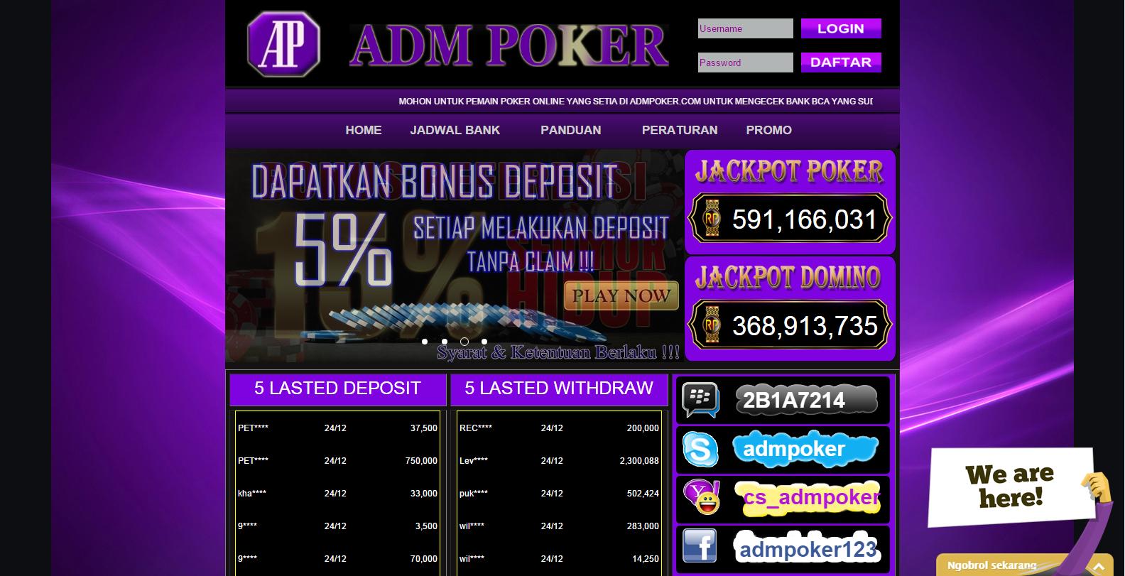 Alamat Alternatif Poker Online Terpercaya Uang Asli Rupiah - Berita Seo Asli