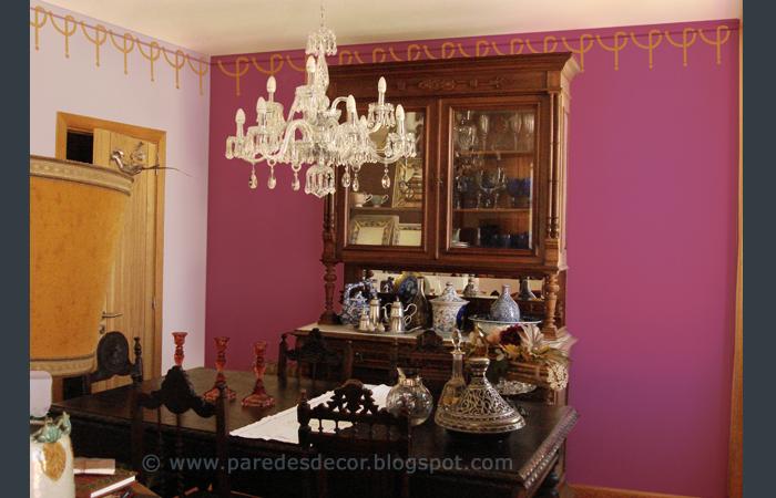 Sala De Jantar Preto E Amarelo ~ claras e tons mais escuros acabaram por resultar em 2 tons de rosa e