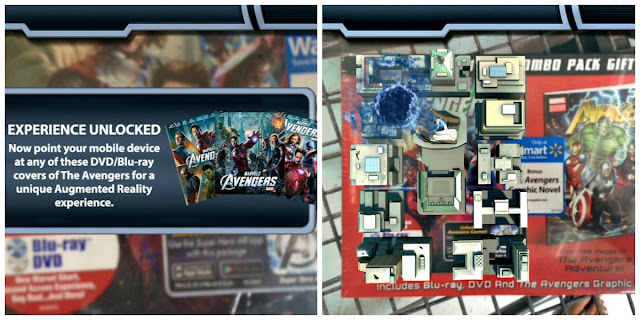 Activating the Avengers Augmented Reality App from Walmart with the Blu-Ray DVD Graphic Novel Combo Pack #MarvelAvengersWMT
