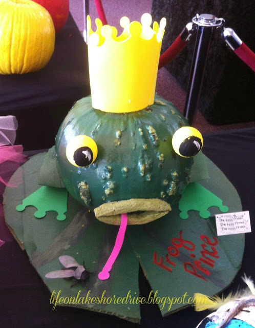 "alt=""No Carve Pumpkin Decorating Ideas Frog Prince"""