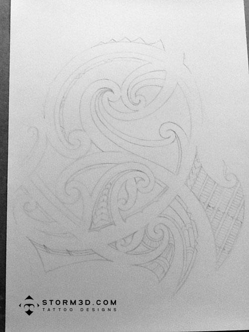 Dessin De Tatouage Polynesien - Dessin de tatouage polynesien et tattoo tribal maori