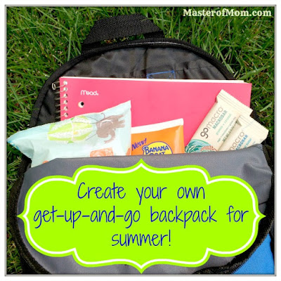 Summer fun, backpack kit, MacroBars, GoMacro, Jack of all trades, Master of Mom