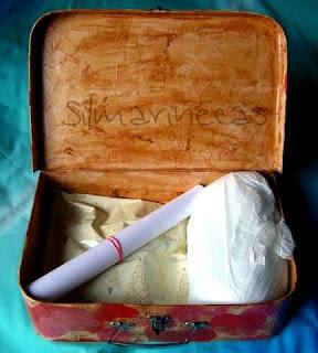 Diy-maleta de cartón con corazones, kit para hacer muñeca de fieltro, truco-