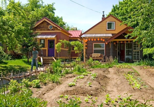 community garden in co housing development