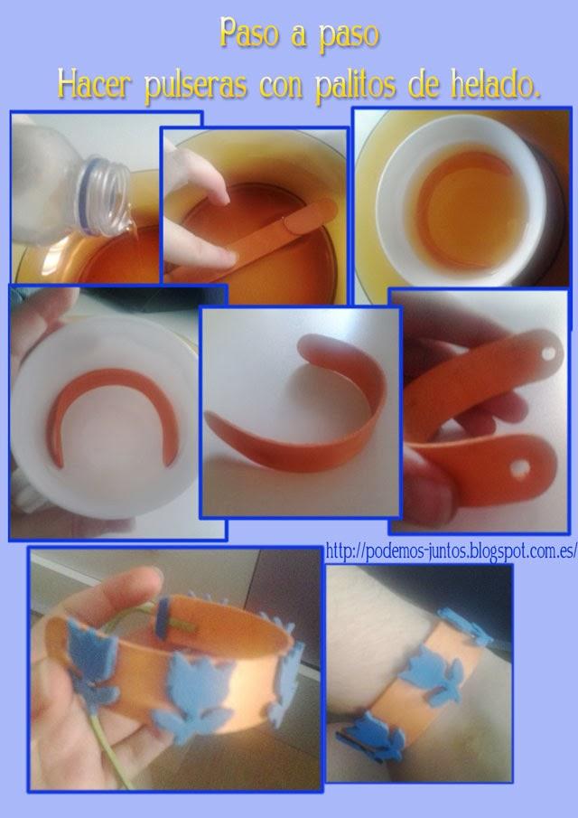 Como hacer pulseras con palitos de helado for Como hacer pulseras de goma eva
