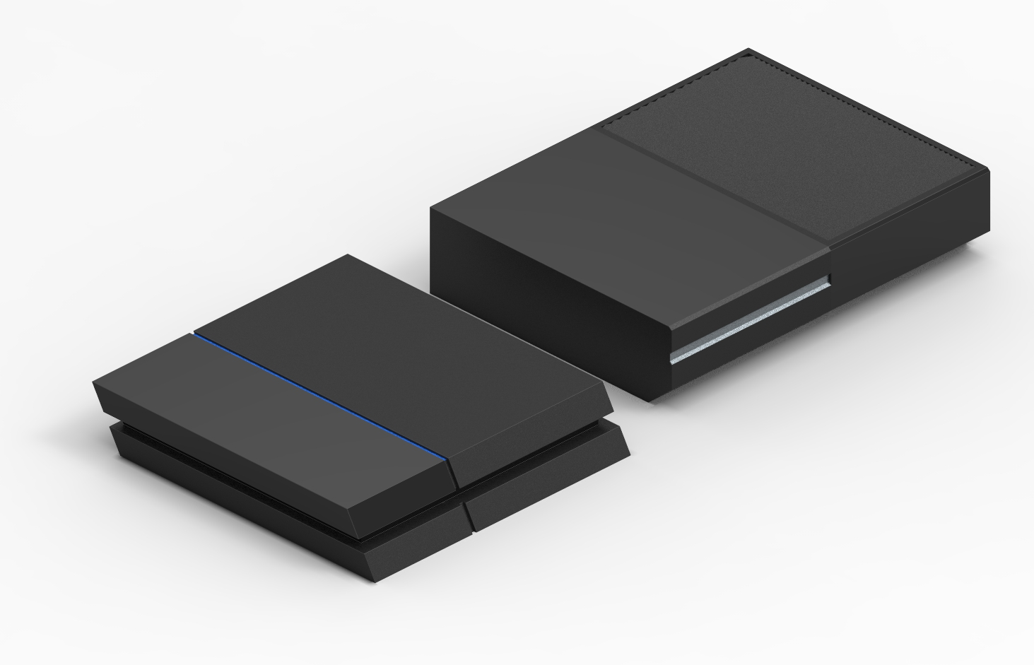 Here is a PS4 vs  Xbox One console size comparison   PS4 is on the    Xbox One Vs Ps4 Size