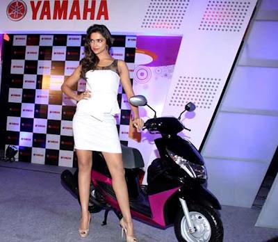 Deepika padukone with yamaha ray