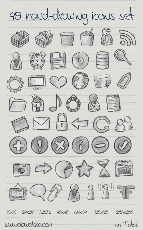 49 hand drawing icons