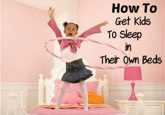 Great tips on how to get kids to sleep in their own bed. #parenting