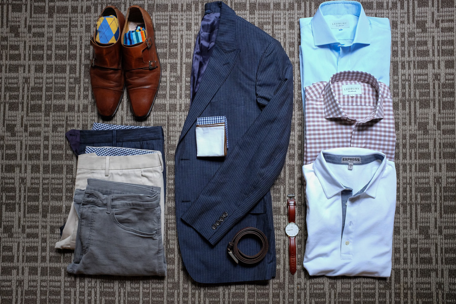 Levitate Style, Style Guide, 48 Hours, Work Trip, Business Trip, Bonobos, Daniel Wellington, Double Monk Strap, Ledbury
