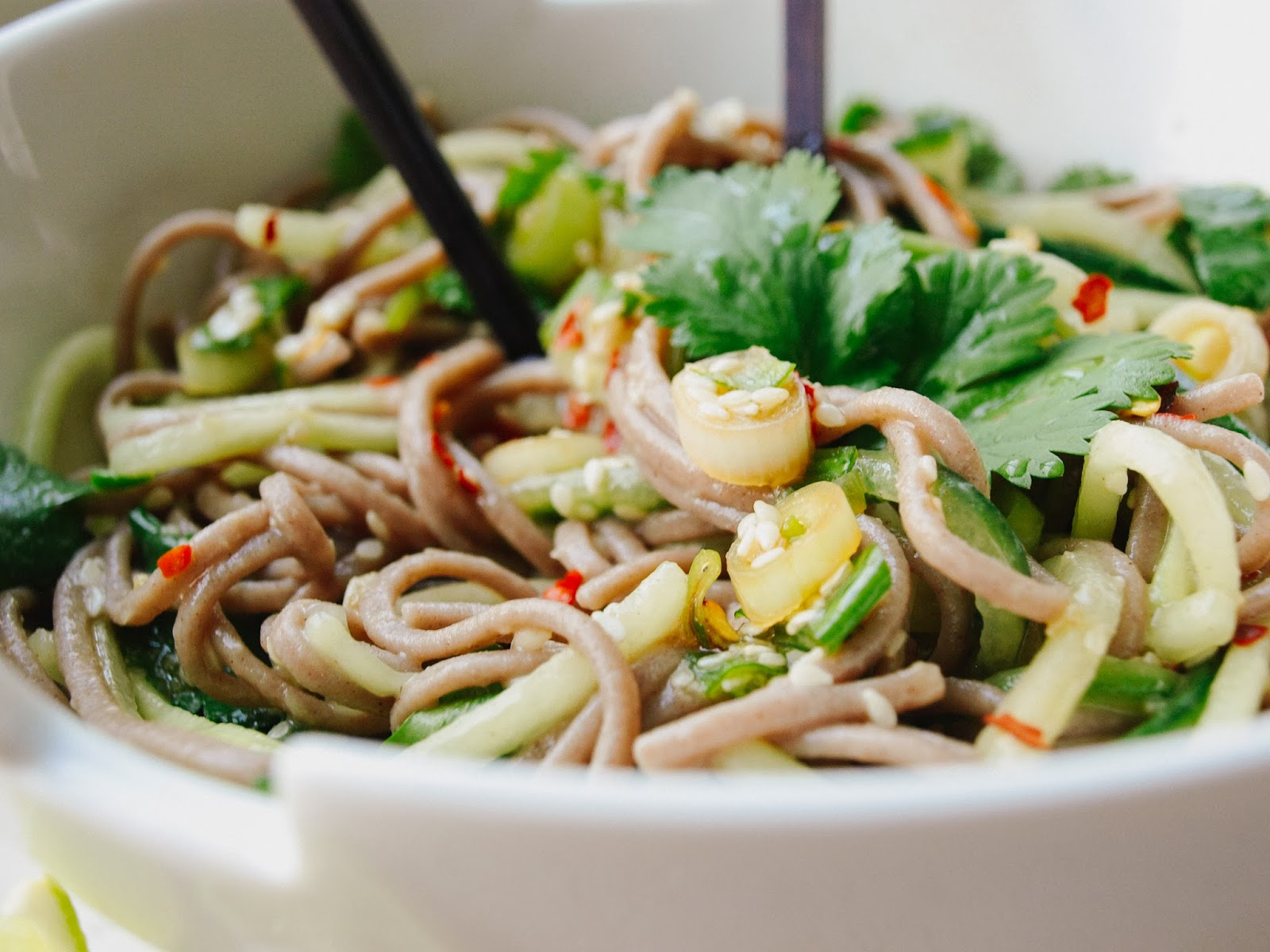 THE SIMPLE VEGANISTA: Soba & Cucumber Noodles + Sweet Ginger Scallion ...