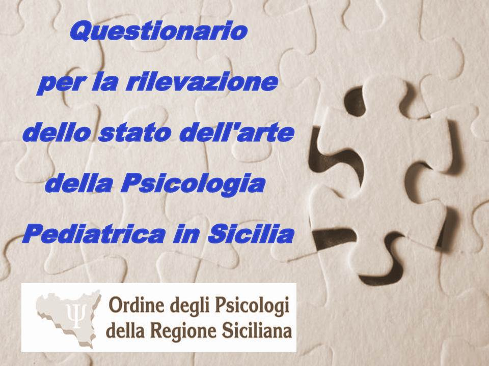 Questionario Psicologia Pediatrica in Sicilia