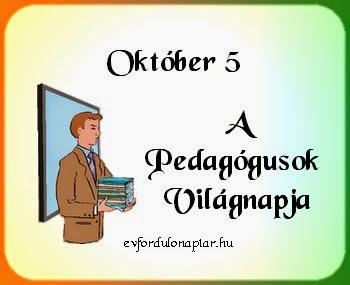 Október 5 - A Pedagógusok világnapja