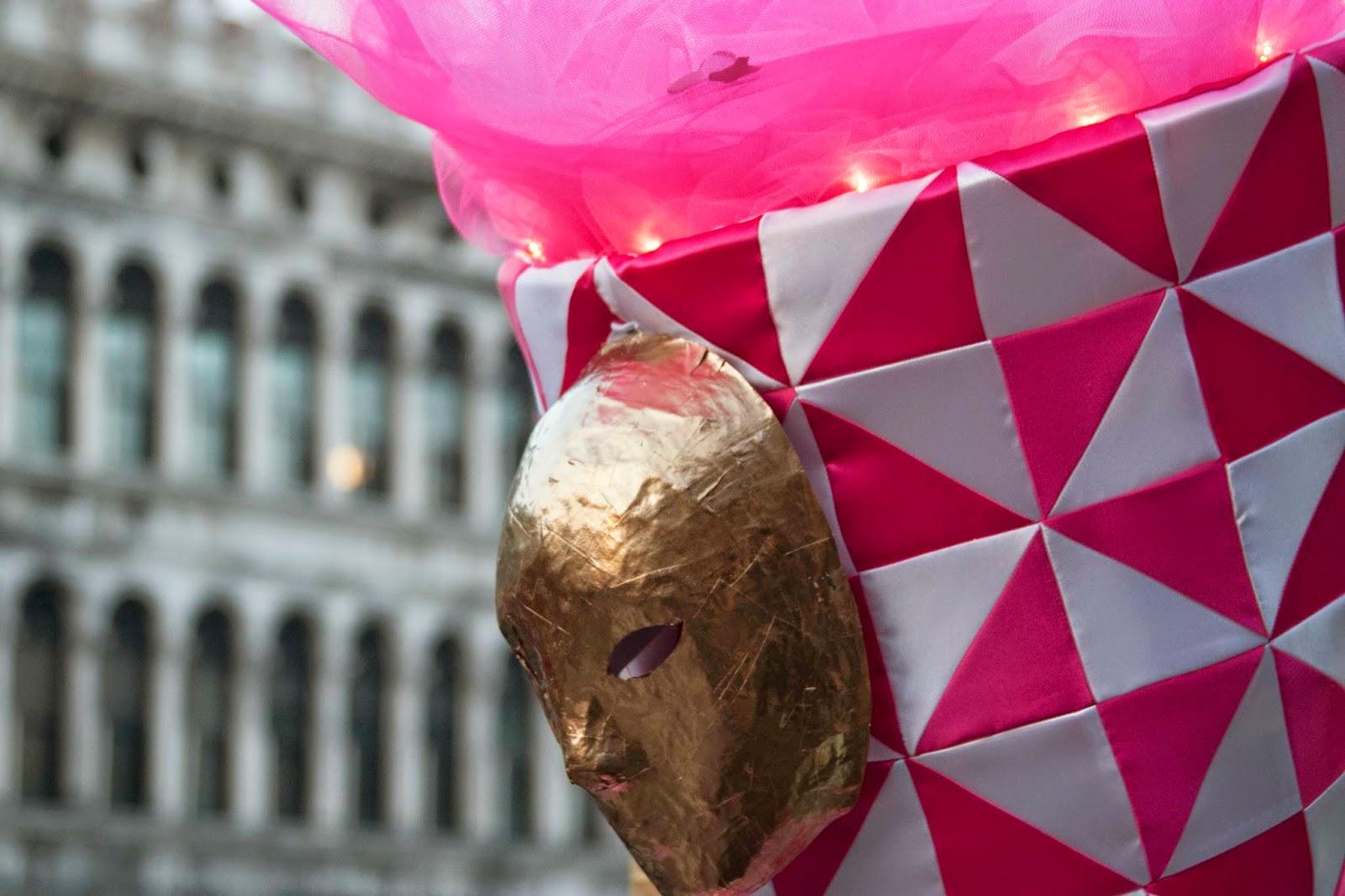 Carnival in Venice: mask on hat