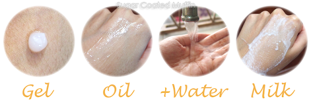 Sothys Micro-gel Peeling transforming from gel to oil to milk