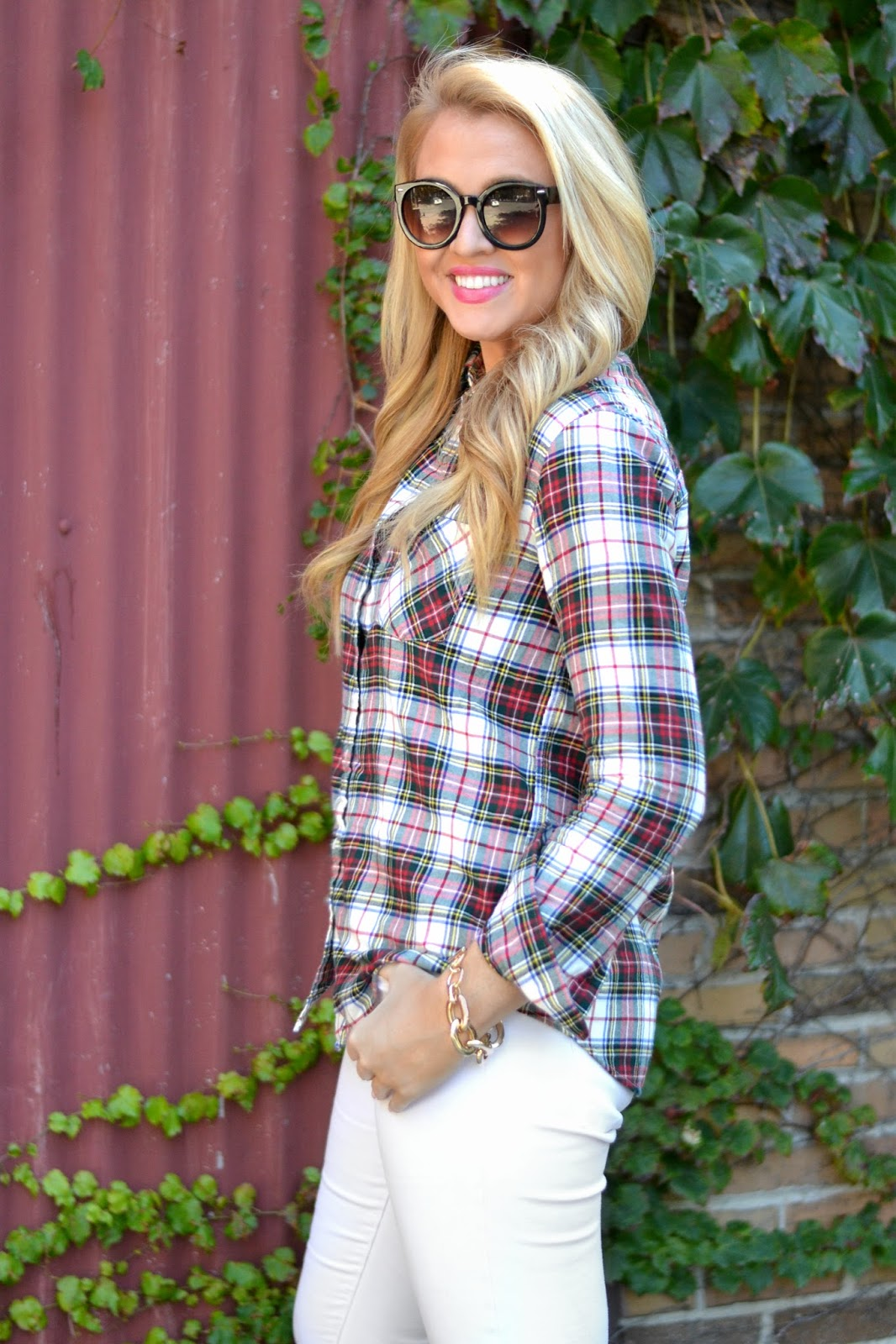 red-white-and-green-plaid-shirt-womens