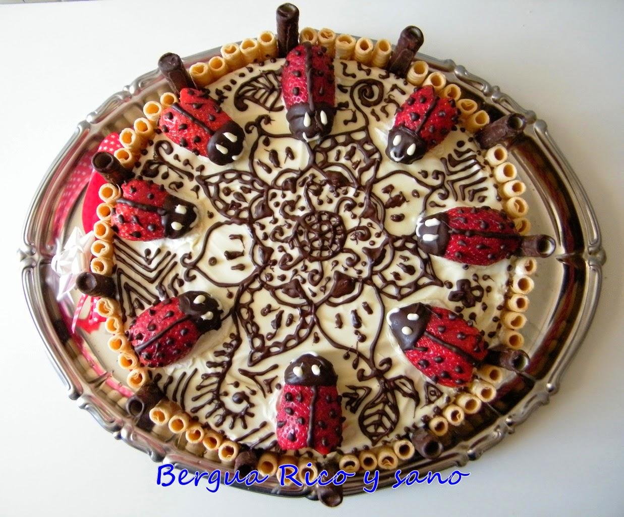 Lagkage de fresa y chocolate