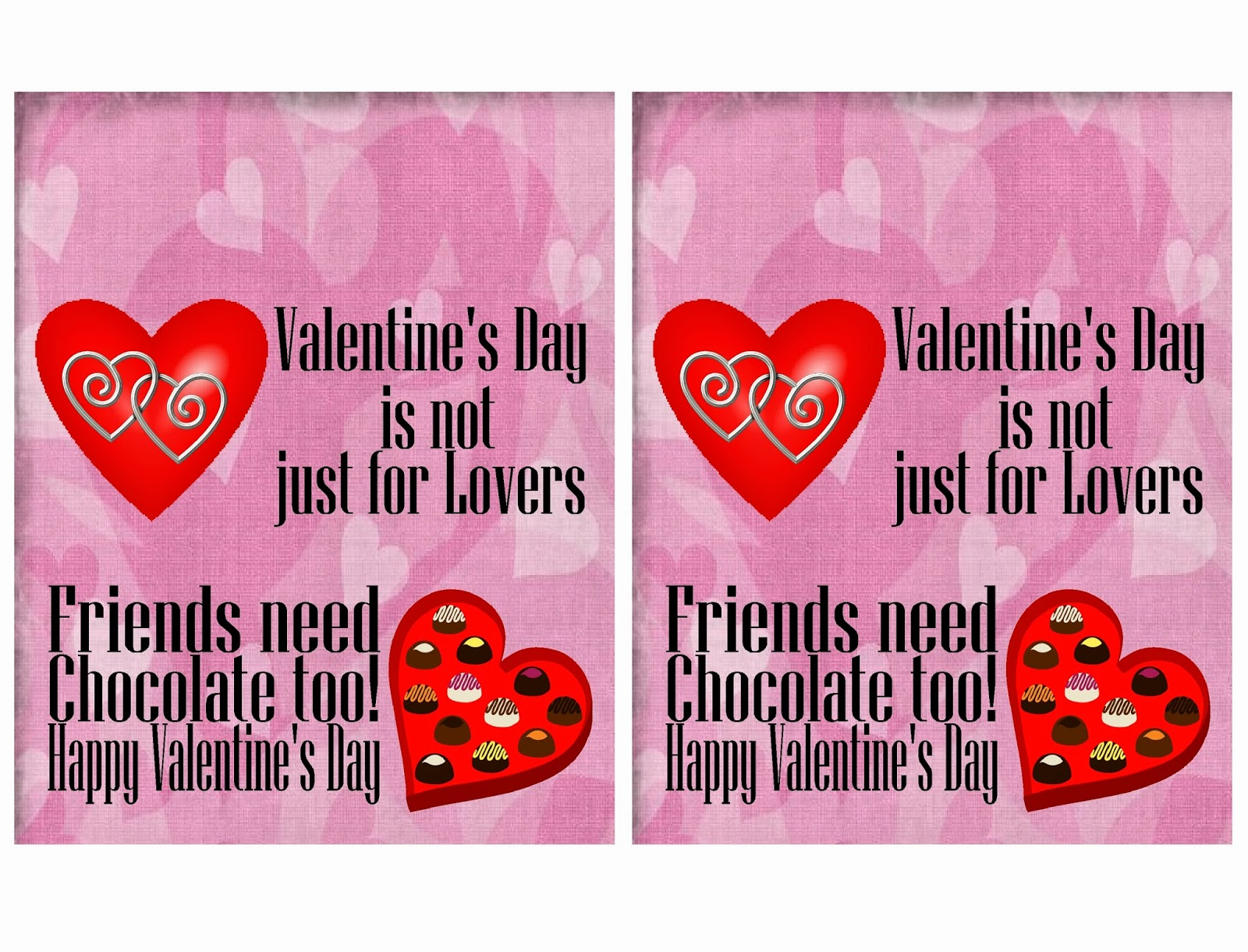 Friends Valentine Candy Bar Wrapper Printable  Everyday Parties