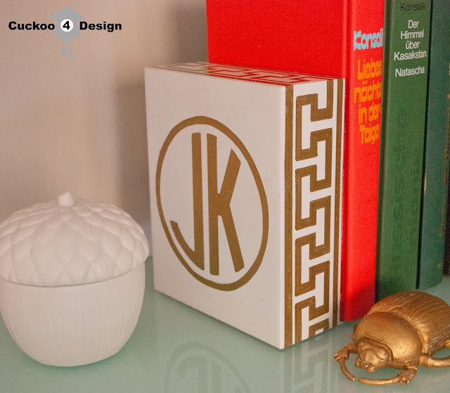 gold monogramed home accessory by cuckoo4design