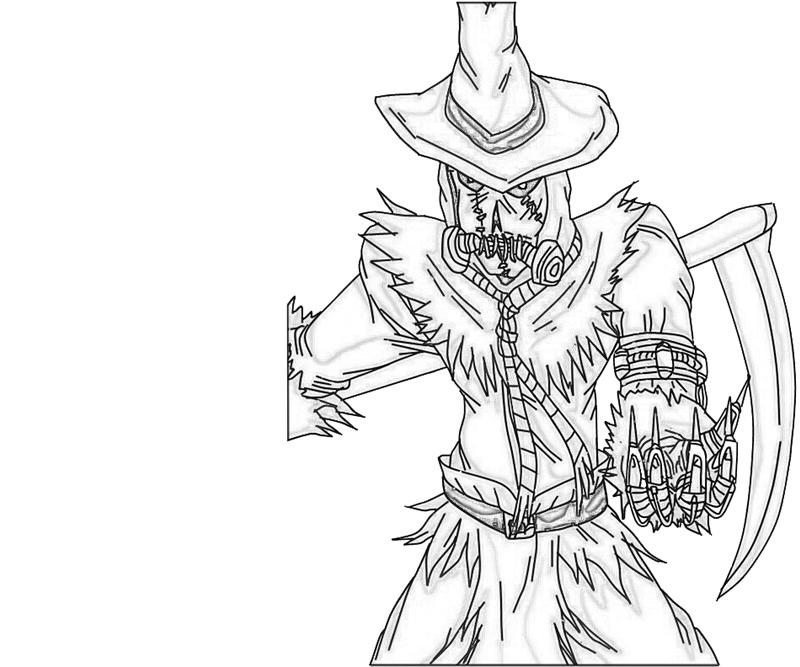 Printable Scarecrow Scary Coloring Pages
