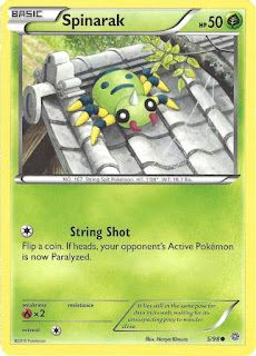 Spinarak Ancient Origins Pokemon Card