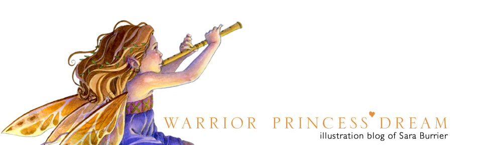 Warrior Princess Dream Illustration Blog of Sara Burrier