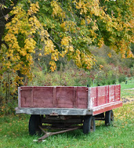 Hay Wagon In Autumn
