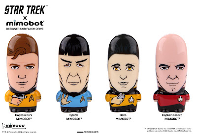 Star Trek Mimobot USB Flashdrives Wave 1 by Mimoco - Captain Kirk, Spock, Data & Captain Picard